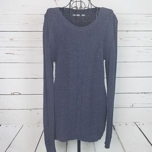 Rubbish Cable Knit Open Weave Sweater